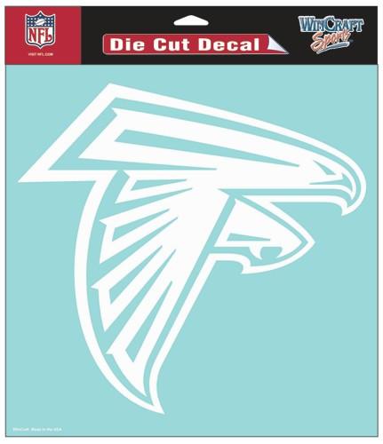 Atlanta Falcons Decal 8x8 Die Cut White