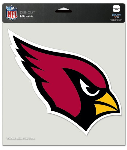 Arizona Cardinals Decal 8x8 Die Cut Color