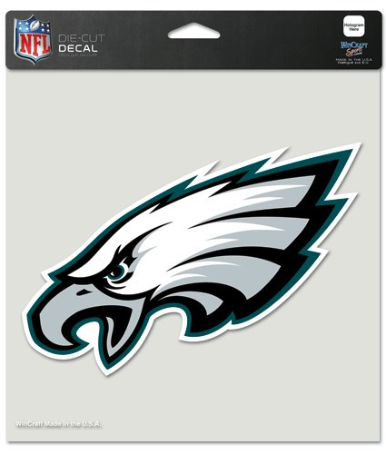 Philadelphia Eagles Decal 8x8 Die Cut Color