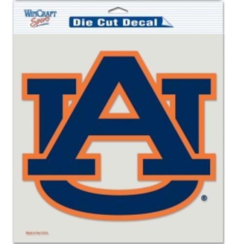 Auburn Tigers Decal 8x8 Die Cut Color