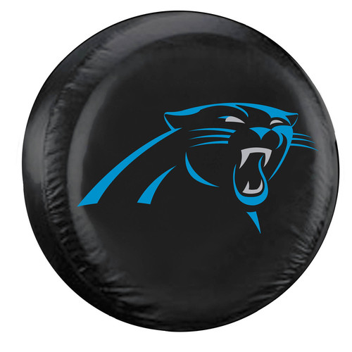 Carolina Panthers Tire Cover Large Size Black