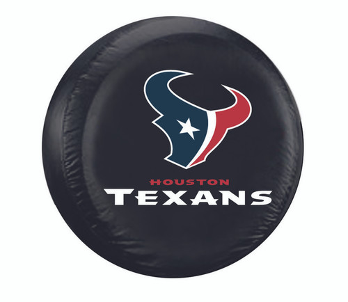 Houston Texans Tire Cover Standard Size Black