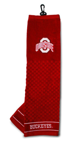 """Ohio State Buckeyes 16""""x22"""" Embroidered Golf Towel"""