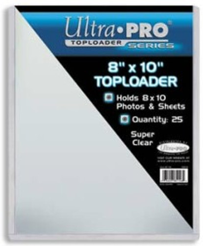 "Top Loader - 8""x10"" holds sleeves (25 per pack)"