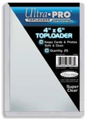 "Top Loader - 4""x6"" (25 per pack)"