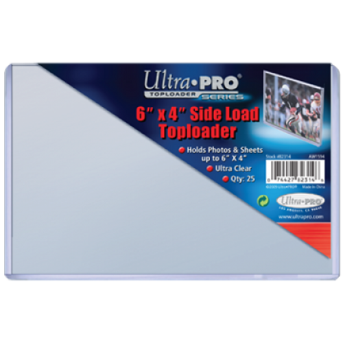 "Top Loader - 6""x4"" Side Loader (25 per pack)"