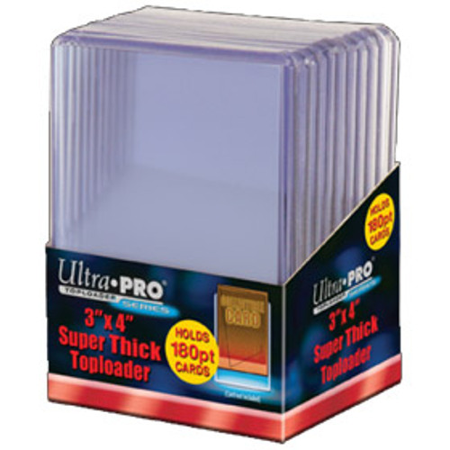 "Top Loader - 3""x4"" 180PT Clear (10 per pack)"