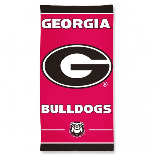 Georgia Bulldogs Towel 30x60 Beach Style
