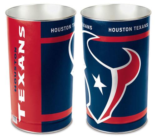 """Houston Texans 15"""" Waste Basket"""
