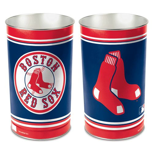 Boston Red Sox Wastebasket 15 Inch