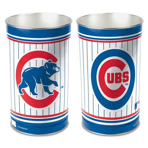 """Chicago Cubs 15"""" Waste Basket"""