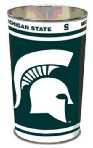 """Michigan State Spartans 15"""" Waste Basket"""