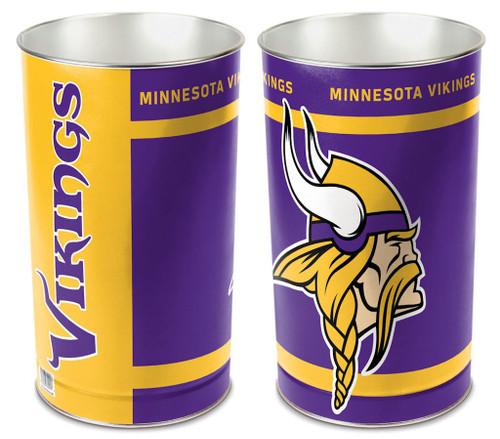 """Minnesota Vikings 15"""" Waste Basket"""