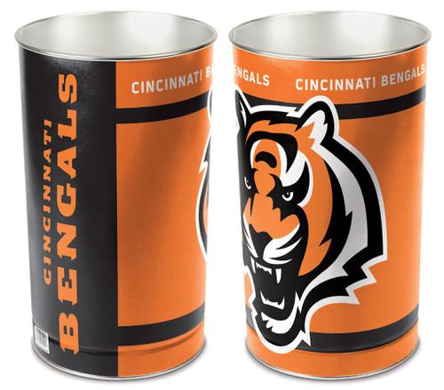 """Cincinnati Bengals 15"""" Waste Basket"""
