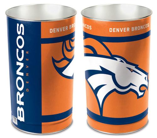 """Denver Broncos 15"""" Waste Basket"""