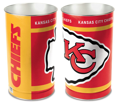 Kansas City Chiefs Wastebasket 15 Inch