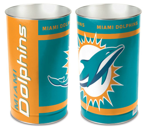 Miami Dolphins Wastebasket 15 Inch
