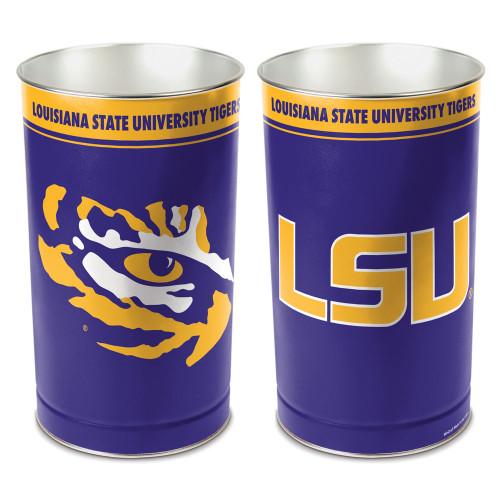 """LSU Tigers 15"""" Waste Basket"""