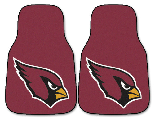 Arizona Cardinals Car Mats Printed Carpet 2 Piece Set