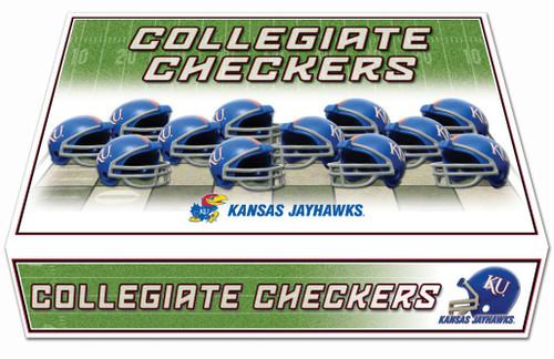 Kansas Jayhawks Checker Set