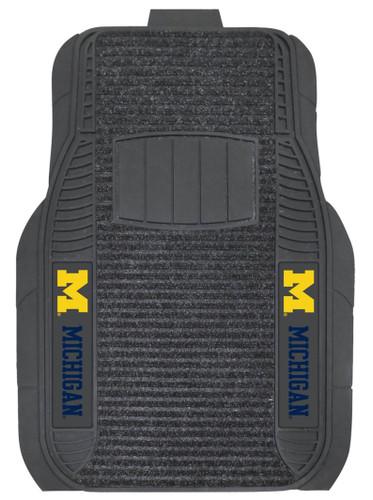 Michigan Wolverines Car Mats - Deluxe Set