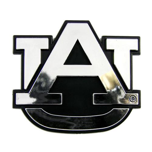 Auburn Tigers Auto Emblem - Silver