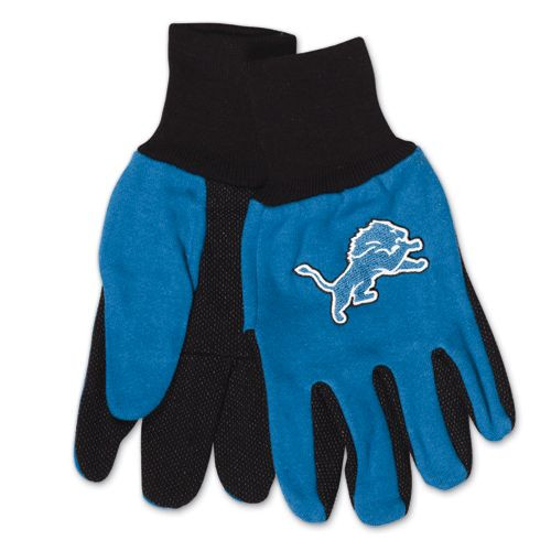 Detroit Lions Two Tone Adult Size Gloves