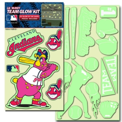 Cleveland Indians Decal Lil Buddy Glow in the Dark Kit