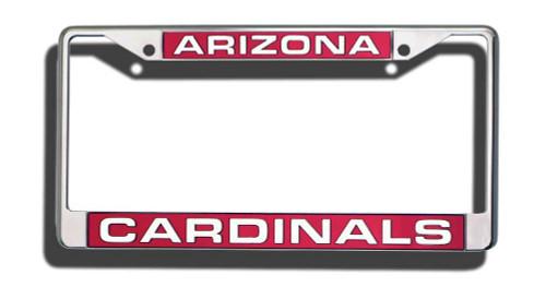 Arizona Cardinals Laser Cut Chrome License Plate Frame