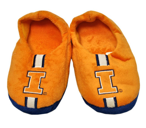 Illinois Fighting Illini  Slippers - Youth 4-7 Stripe