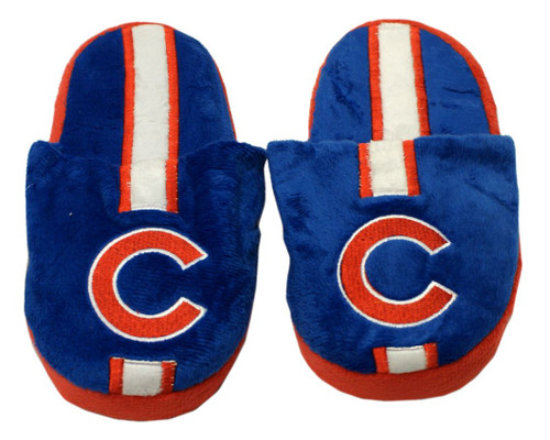Chicago Cubs Slippers - Youth 8-16 Stripe