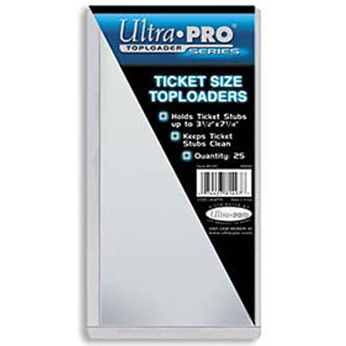 "Top Loader 3 3/8"" x 7 1/4"" Ticket (25 per pack)"