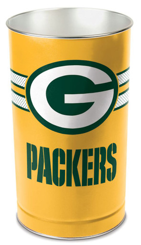 "Green Bay Packers 15"" Waste Basket - Gold"