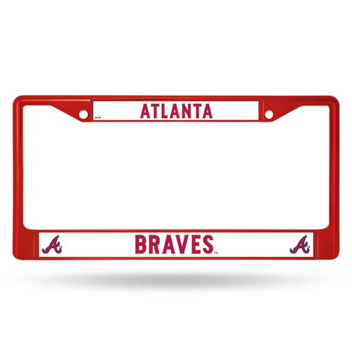 Atlanta Braves Metal License Plate Frame - Red