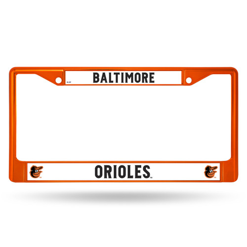 Baltimore Orioles Metal License Plate Frame - Orange