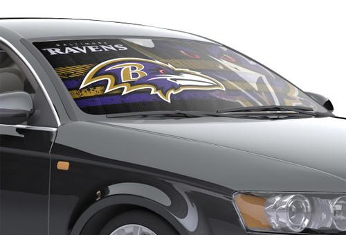 "Baltimore Ravens Auto Sun Shade - 59""x27"""
