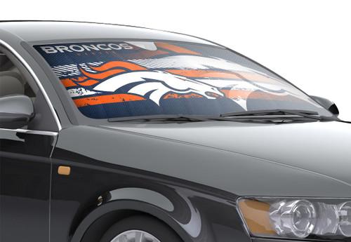 """Denver Broncos Auto Sun Shade - 59""""x27"""""""