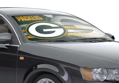 "Green Bay Packers Auto Sun Shade - 59""x27"""