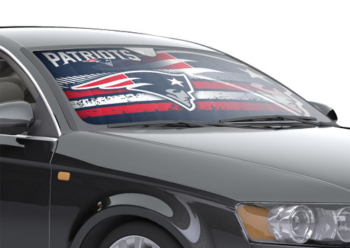 "New England Patriots Auto Sun Shade - 59""x27"""
