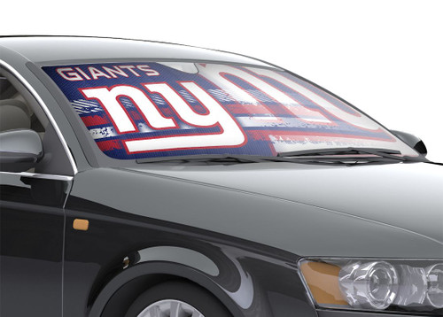 "New York Giants Auto Sun Shade - 59""x27"""