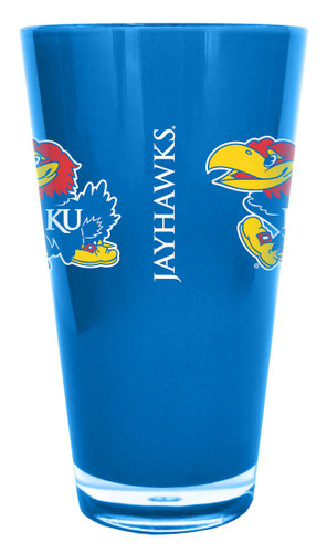 Kansas Jayhawks 20 oz Insulated Plastic Pint Glass