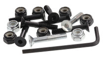 Enuff Skateboard Bolt Sets-Black-Rollback Skating
