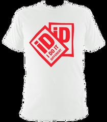 iD2 Classic tee white red print