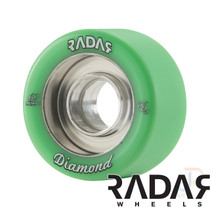 RADAR WHEELS (4) - DIAMOND - GREEN - 62mm/96a