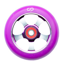 Crisp 5 Spoke Wheel - 100mm - Purple on Purple