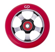 Crisp 5 Spoke Wheel - 100mm - Red on Black