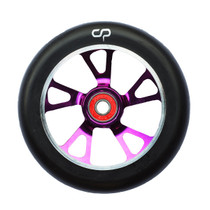 Crisp 125mm Drilled Alloy Core Wheel Purple / Black PU