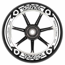 District Scooters 100mm Cast Alloy Core Twin Pack Wheels - Black / Black