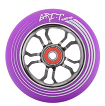 Grit Ultralight Spoked V2 Wheel - 110mm - Purple on Titanium