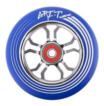 Grit Ultralight Spoked V2 Wheel - 110mm - Blue on Titanium